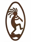 "22"" Oval Kokopelli Metal Wall Art"