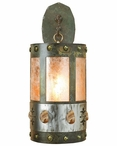 "22"" Picture Jasper Stone One Light Metal Wall Sconce"