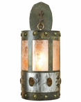 "22"" Unakite Stone One Light Metal Wall Sconce"