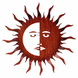"24"" Bent Sun Moon Metal Wall Art"