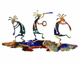 "24"" Dancing Kokopellis Metal Wall Art by Neil Rose"