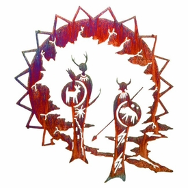 "24"" Guardian Shaman Metal Wall Art by Neil Rose"