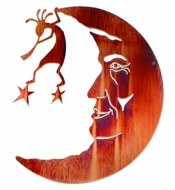 "24"" Kokopelli In the Moon Metal Wall Art by Neil Rose"