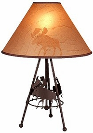 "24"" Moose Wildlife Metal Table Lamp by Neil Rose"