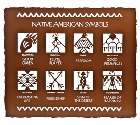 "24"" Native American Symbols Metal Wall Art by Bindrune Design"