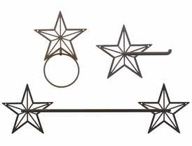 "24"" Star Metal Towel Bar Set"