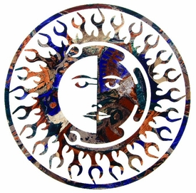 "24"" Sun Moon Fire Metal Wall Art by Joel Sullivan"