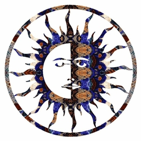 "24"" Sun Moon Metal Wall Art"