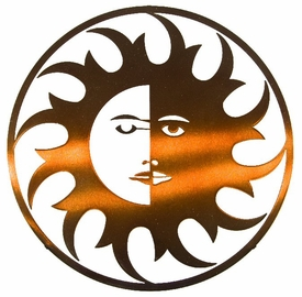 "24"" Sun Moon Rays Metal Wall Art by Joel Sullivan"
