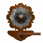"27"" Burnished Round Copper Berry Concho Metal Towel Bar"