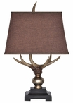 "27"" Monarch Antler Table Lamp"