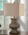 "27"" Stone Balvster Table Lamp"