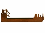 "28"" Kokopelli Scene Metal Wall Shelf with Ledge"