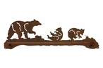 "29"" Bear Family Metal Towel Bar"