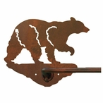 "29"" Black Bear Metal Towel Bar"