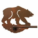 "29"" Brown Bear Metal Towel Bar"