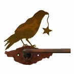 "29"" Crow Bird Metal Towel Bar"