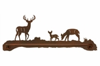 "29"" Deer Family Metal Towel Bar"
