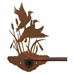 "29"" Ducks in the Cattails Metal Towel Bar"
