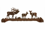 "29"" Elk Family Metal Towel Bar"