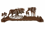 "29"" Moose Family Metal Towel Bar"