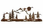 "29"" Mountain Scene Metal Towel Bar"