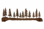 "29"" Pine Forest Scene Metal Towel Bar"