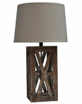 "29"" Wooden Cafe Table Lamp"