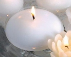 "3"" White Candle Floats Floating Candles, Set of 16"