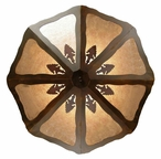 "30"" Arrowhead Metal Ceiling Light Fixture"