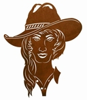 "30"" Cowgirl Metal Wall Art"