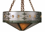 "30"" Picture Jasper Stone Metal Chandelier"