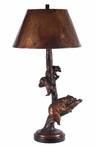 "34"" Bear Family Retreat Table Lamp"