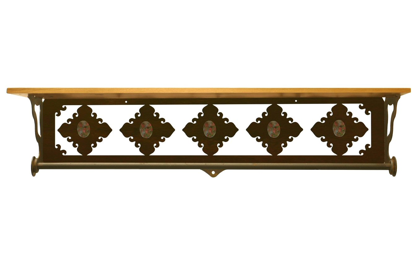 Very Impressive portraiture of  Stone Metal Towel Bar with Pine Wood Top Wall Shelf Towel Holder with #B57616 color and 1350x850 pixels