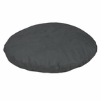 "35"" Passion Suede Charcoal Round Pet Bed"