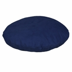 "35"" Passion Suede Navy Round Pet Bed"