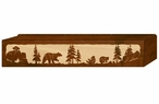"36"" Bear Family Scenic Metal Window Valance"
