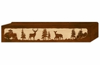 "36"" Deer Family Scenic Metal Window Valance"