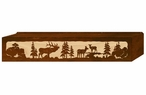 "36"" Elk Family Scenic Metal Window Valance"