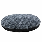 "36"" Feathers Black Round Fiber Pet Bed"