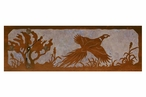 "36"" Flying Pheasant Scene Metal Wall Clock with Four Stone Options"