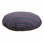 "36"" Multi Stripe Charcoal Round Pet Bed"