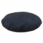 "36"" Passion Suede Black Simply Soft Round Pet Bed"