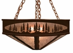 "36"" Pine Tree Forest Metal Chandelier"