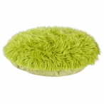"36"" Shag Fur Green Round Pet Bed"