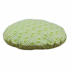 "36"" Shakes Artistic Green Round Pet Bed"