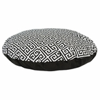 "36"" Towers Black Four Piece Round Pet Bed"