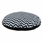 "36"" Zig Zag Black Round Pet Bed"