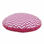 "36"" Zig Zag Candy Pink Round Pet Bed"