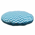 "36"" Zig Zag True Turquoise Round Pet Bed"